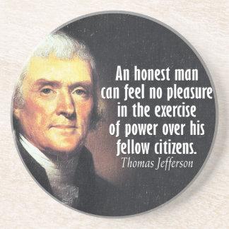 力のトーマス・ジェファーソンの引用文 コースター