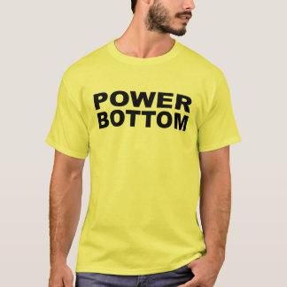 力の最下の寝台のキャッチャーの受信機 Tシャツ