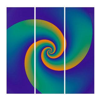 力の螺線形のオレンジ青いバイオレット + あなたのアイディア トリプティカ