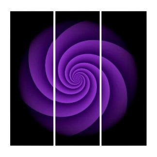 力の螺線形のバイオレット + あなたのアイディア トリプティカ
