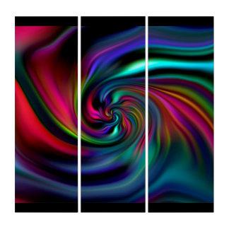 力の螺線形/渦巻-着色される暗闇 トリプティカ