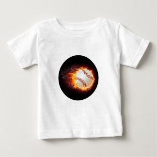 力の野球 ベビーTシャツ