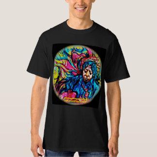 力の青霞のサイケデリックなTシャツ Tシャツ