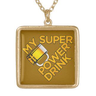 力の飲み物のカスタムのネックレス ゴールドプレートネックレス