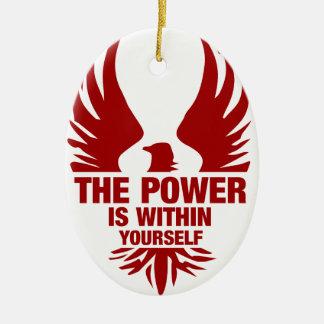 力はあなた自身の内に-火フェニックスです セラミックオーナメント
