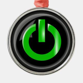 力ボタンのオーナメント メタルオーナメント