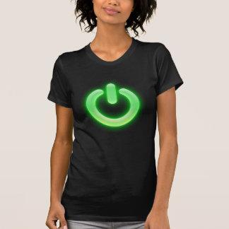 力ボタン(緑) Tシャツ