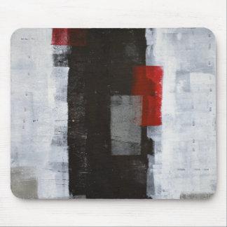 「力旅行」の灰色および赤い抽象美術 マウスパッド
