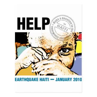 助けの寄付ハイチ ポストカード