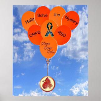 助けはミステリーCRPS RSDフェニックス気球を解決します ポスター