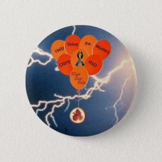 助けは苦痛Bal上のミステリーCRPS RSD希望を解決します 5.7cm 丸型バッジ