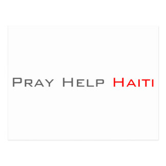 助けハイチを祈って下さい ポストカード
