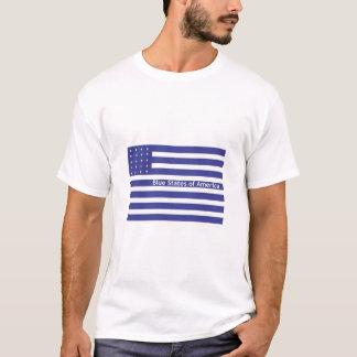 助け私は赤い州にいます Tシャツ