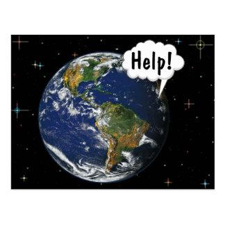 助け! カスタマイズ世界を-救って下さい ポストカード