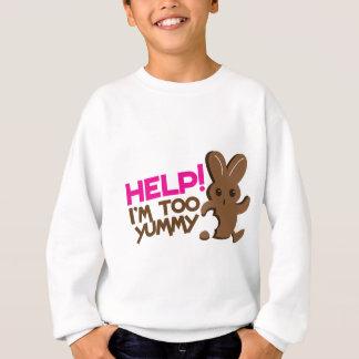 助け! 私は余りにおいしいです! イースターのウサギチョコレート操業 スウェットシャツ