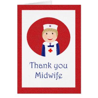 助産婦ありがとう、エプロンおよび帽子によって看護して下さい カード