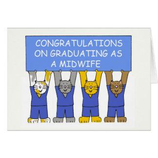 助産婦として卒業のお祝い カード