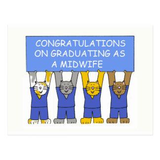 助産婦として卒業のお祝い ポストカード
