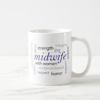 助産婦の単語の雲 コーヒーマグカップ