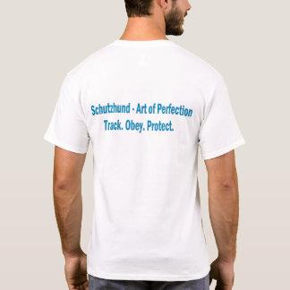 努力のSchutzhundクラブロゴの不足分の袖のワイシャツ Tシャツ
