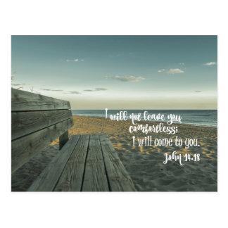 励ますこと慰めます聖書の詩(ジョン)を ポストカード