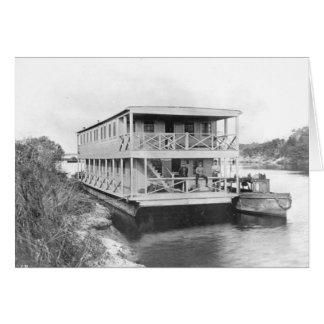 労働者のハウスボート、フロリダの沼沢地、20年代 カード