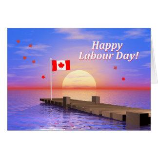 労働者の日のカナダの幸せな波止場 カード