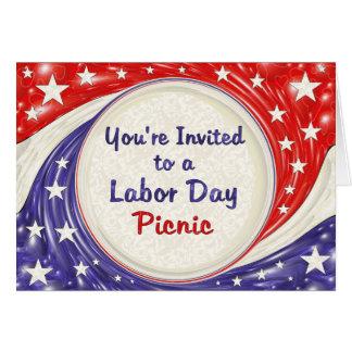 労働者の日のピクニックへの招待されました カード