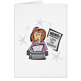 労働者の日のメモ カード