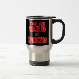 労働者のTシャツの戦争をストップ トラベルマグ