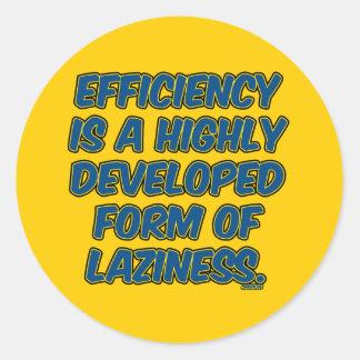 効率は怠惰の高度な型枠です ラウンドシール