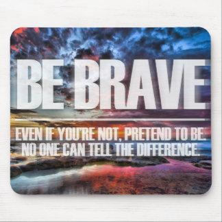 勇敢が-やる気を起こさせるな引用文あって下さい マウスパッド