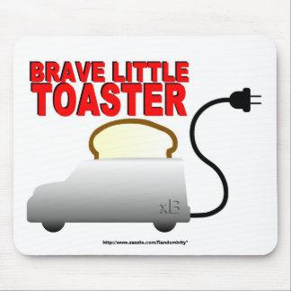 勇敢で小さいトースターのマウスパッド マウスパッド