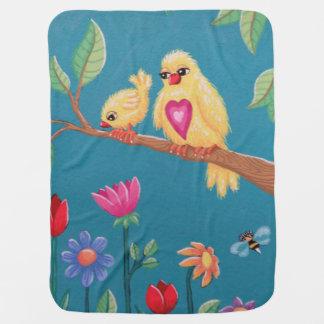 勇敢なひな鳥があって下さい! Soozieからの甘い鳥のデザイン ベビー ブランケット
