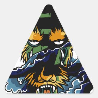 勇敢なドラゴン 三角形シール