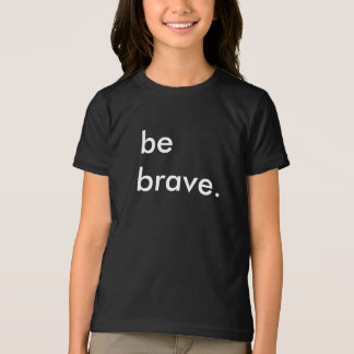 勇敢な子供の黒いTシャツがあって下さい Tシャツ