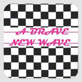 勇敢な新しい波のロゴのステッカー スクエアシール