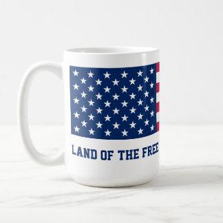 勇敢な旗のために自由のの土地 コーヒーマグカップ