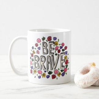 勇敢な花のマグ コーヒーマグカップ
