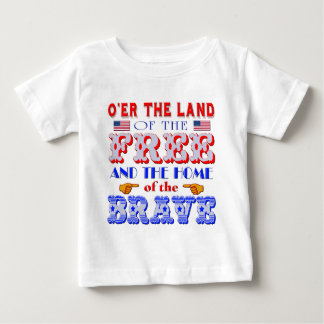 勇敢なTシャツの自由な家の土地 ベビーTシャツ