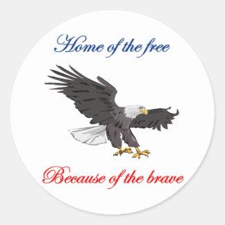 勇敢ののために自由のの家 ラウンドシール