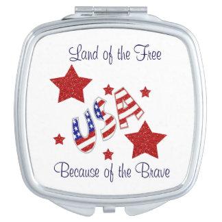 勇敢ののために自由のの米国の土地