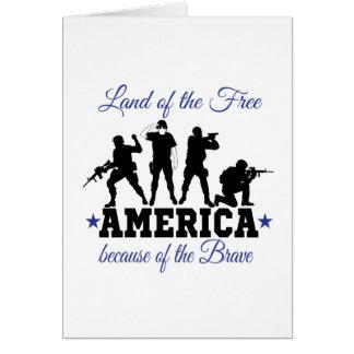勇敢ののアメリカの土地 カード