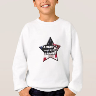 勇敢ののアメリカの家 スウェットシャツ