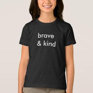 勇敢及び種類黒いTシャツをからかいます Tシャツ