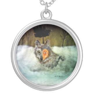 勇敢|オオカミ パーソナライズネックレス