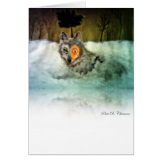 勇敢|オオカミ|挨拶|カード カード