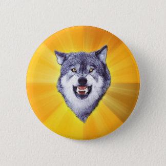 勇気のオオカミのアドバイスの動物のインターネットのミーム 5.7CM 丸型バッジ