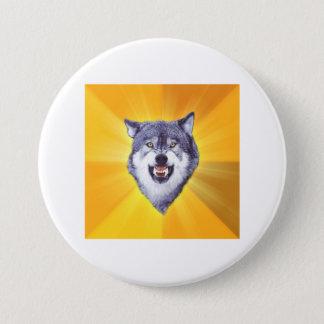 勇気のオオカミ 7.6CM 丸型バッジ
