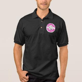 勇気のポロ(ピンクの手紙の紋章) ポロシャツ